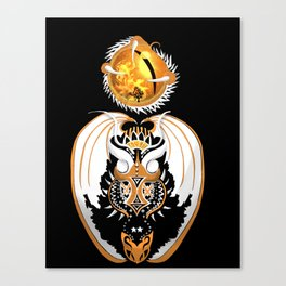 Cosmic Copperhead Dragon Canvas Print