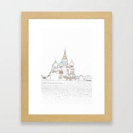 Saint Basil's Cathedral (on white) Framed Art Print