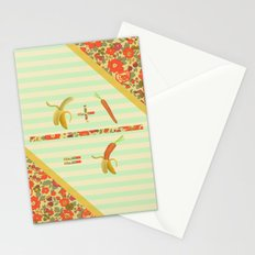 what if a banana fall in love with a carrot ? Stationery Cards