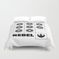 rebel Duvet Covers featuring Rebel by JuakiR
