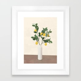 Lemon Branches II Framed Art Print