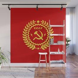 Communist Hammer & Sickle CCCP Badge Design Wall Mural