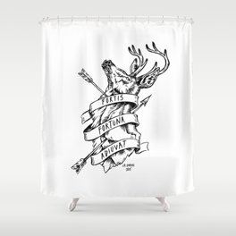 Fortis Fortuna Adiuvat Shower Curtain