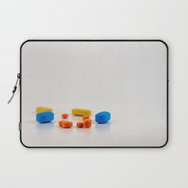 Colored medicines on a neutral background Laptop Sleeve
