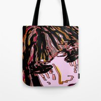 doll Tote Bags featuring doll by sladja