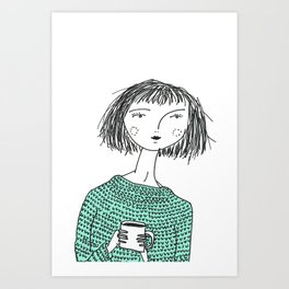 Coffee and Sweaters Art Print
