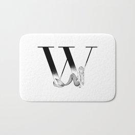 Mermaid Alphabet Series - W Bath Mat