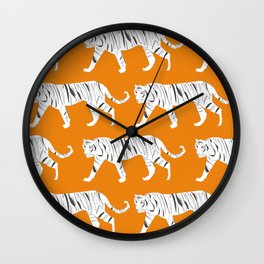 Tiger Print Wall Clock