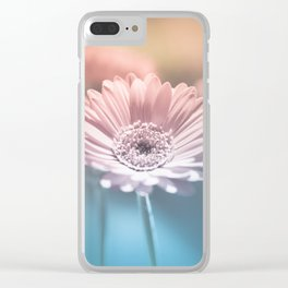 Pastel Gerbera Clear iPhone Case