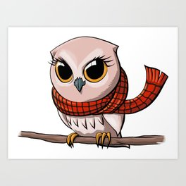 Scarf Owl Art Print
