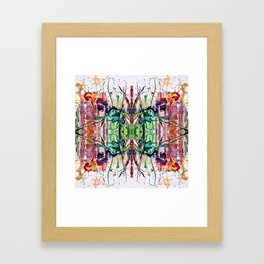 Midsummer kaleidoscope Framed Art Print