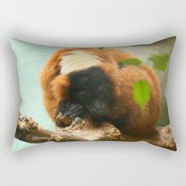 Sleeping Monkey Photography Print Rectangular Pillow