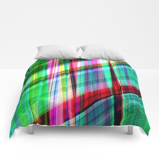 green traffic Comforters