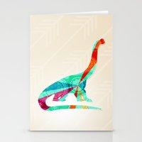 dinosaur Stationery Cards featuring dinosaur by Emmy Winstead
