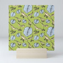 Linden pattern in sring colors Mini Art Print