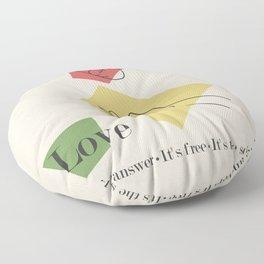 Love: Fifties Floor Pillow
