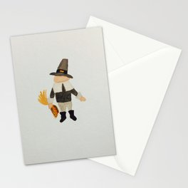 Thanksgiving Pilgrim Puritan Baby Boy Toddler Stationery Cards