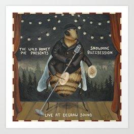 Snowmine Buzzsession Cover Art Art Print