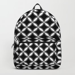 Small Black and White Interlocking Circles Backpack