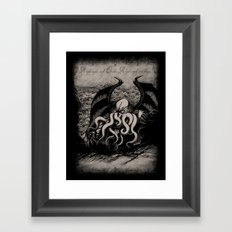 The Rise of Great Cthulhu Framed Art Print