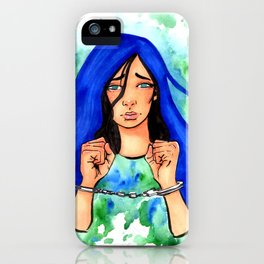 Bound Watercolor Painting by Grimmiechan iPhone Case