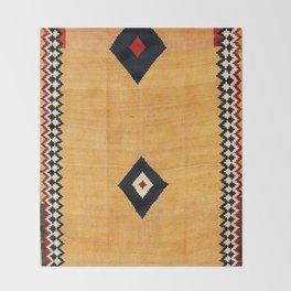 Qashqa'i Fars Southwest Persian Kilim Print Throw Blanket