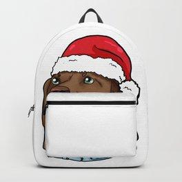 Vizsla Dog Christmas Hat Present Puppy Backpack