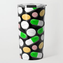 Deadly Pills Pattern Travel Mug