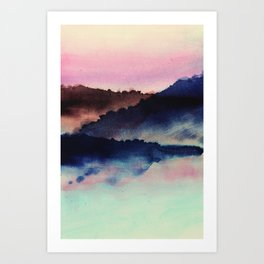 mountainous candy Art Print