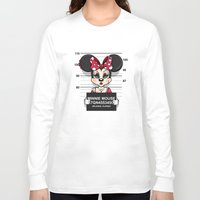 minnie mouse Long Sleeve T-shirts featuring Bad Guys / Minnie Mouse by mebz art