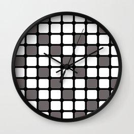 BLACK GREY AND WHITE RECTANGLE TILE  {BASIcs JHD} Wall Clock