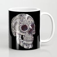 bioworkz Mugs featuring Ornate Skull by BIOWORKZ