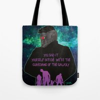 starlord Tote Bags featuring Starlord by Dgrafiks
