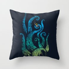 Undersea attack (neon ver.) Throw Pillow