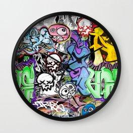 Graffiti is art. Wall Clock
