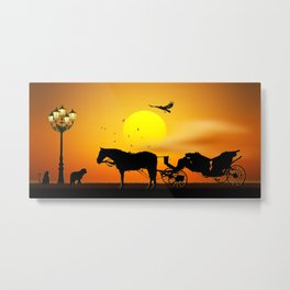 The Meeting Of The Animals Metal Print