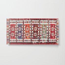 Karakoyunlu Antique Turkish Kilim Rug Print Metal Print