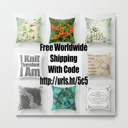 Free Worldwide Shipping Promo Metal Print