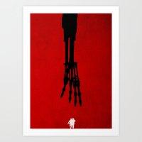 terminator Art Prints featuring Terminator by Jonathan Willard