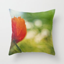 Poppy power Throw Pillow