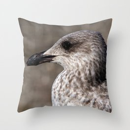Young Seagull Throw Pillow