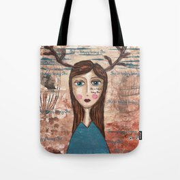 Coco's Closet- She is happy being She Tote Bag
