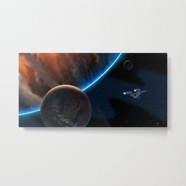 STAR TREK ANIMATED: Boldly Go! Metal Print