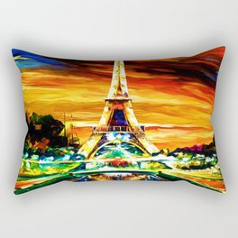 WATERCOLOR EIFFEL TOWER PARIS Rectangular Pillow