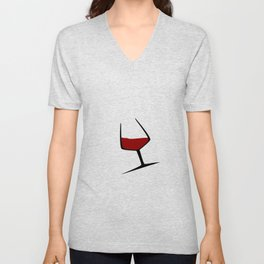 Pouring A Glass Of Wine Unisex V-Neck
