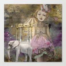 The life of a girl in the circus. Canvas Print