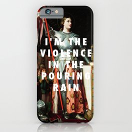 Jean Auguste Dominique Ingres, Joan of Arc at the Coronation of Charles VII (1854) / Halsey, Hurrica iPhone Case