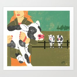 Cow Family Art Print