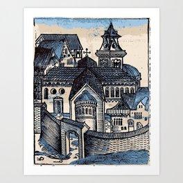 Monastery - Nuremberg Chronicle Art Print