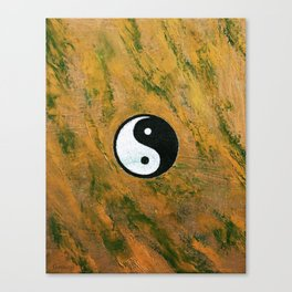 Yin Yang Stone Canvas Print